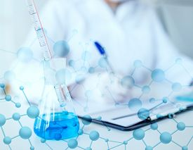 stock photo of chemistry technician  - science - JPG