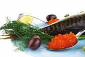 picture of plate fish food  - diet food  - JPG