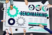 picture of benchmarking  - Benchmarking Development Business Efficiency Concept - JPG