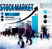 stock photo of stock market data  - Stock Market Stock Exchange Trade Digital Concept - JPG