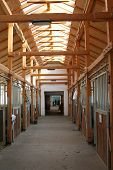 Wooden Indoor Structure In A Stable.