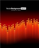 Red equalizer vector background