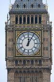 Mostrador de relógio das casas do Parlamento de Londres