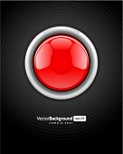 Button red vector background