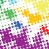 Random halftone colorful background