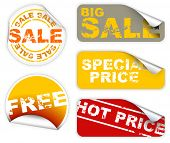 Set of labels badges and stickers for sale and hot price