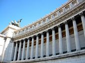 stock photo of mussolini  - il vittoriano vertical columns rome italy europe - JPG