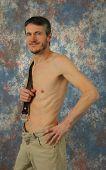 Semi nuas Muscular Man