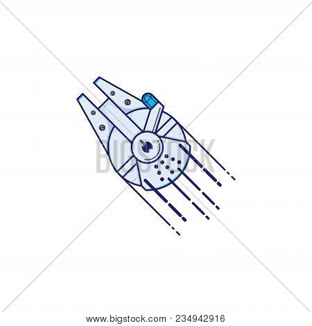 Spaceship Vector Illustration Of A