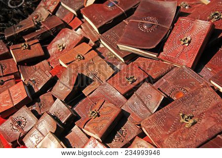 Notepads With Leather Cover Are