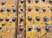 Rivets And Rust On A Section Of A Metal Railway Bridge poster