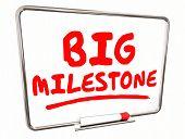 Big Milestone Dry Erase Board Achievement 3d Illustration poster