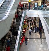 LONDON- SEPT 13: Crowds of shoppers visit Londons newest and biggest shopping centre, Westfield Stra