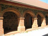stock photo of olden days  - Arches from a brick - JPG