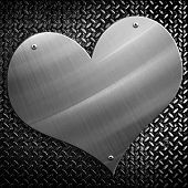 metal plate with love shape