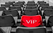 Red Vip Seat In Football Stadium