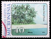A 40-cent Stamp Printed In The Federated States Of Micronesia