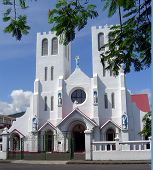 Church On Main Street Of Apia Samoa