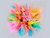 A Colored Explosion Of Powder poster