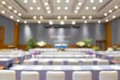Blur Of Business Conference And Presentation In The Conference Hall, Meeting And Conference Room Tal poster