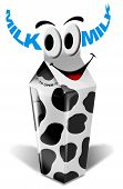Cartoon cow milk packaging