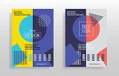 Minimal Abstract Design Posters. Covers Templates Set With Bauhaus, Memphis And Hipster Style Graphi poster