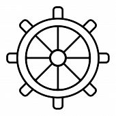 Wheel Of Ship Icon. Outline Wheel Of Ship Vector Icon For Web Design Isolated On White Background. E poster