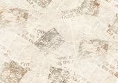 Old Grunge Newspaper Collage Paper Texture Horizontal Background. Blurred Vintage Newspaper Backgrou poster