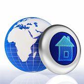 Globe home button concept