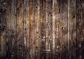 Rustic Wood Planks Background With Nice Studio Lighting And Elegant Vignetting To Draw The Attention poster