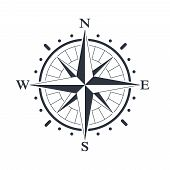 Compass Graphic Icon. Wind Rose Sign. Compass Symbol Isolated On White Background. Vector Illustrati poster