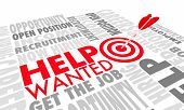 Help Wanted Now Hiring Apply Here New Job Career Arrow Target 3d Animation poster