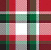 Classic Modern Plaid Tartan Seamless Pattern In Vector poster