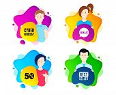 Cyber Monday Sale. People Shape Offer Badge. Special Offer Price Sign. Advertising Discounts Symbol. poster