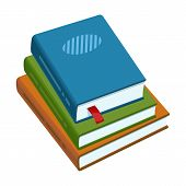 Stack Of Books Vector Icon.cartoon Vector Icon Isolated On White Background Stack Of Books . poster
