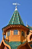 Roof Of Tower In Wooden Palace Of Tzar In Moscow, Russia
