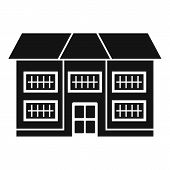 Apartment Cottage Icon. Simple Illustration Of Apartment Cottage Vector Icon For Web Design Isolated poster