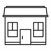 Property Cottage Icon. Outline Property Cottage Vector Icon For Web Design Isolated On White Backgro poster