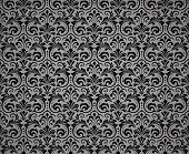 Floral Pattern. Vintage Wallpaper In The Baroque Style. Seamless Background. Black Ornament For Fabr poster