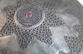 picture of dowry  - Detail intricate silver headpiece for a Turkish woman - JPG
