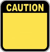 image of road sign  - yellow caution sign left blank with room for your own graphic - JPG
