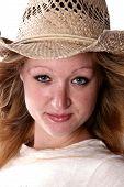 Pretty Woman In Cowboy Hat