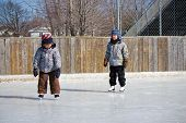 Children At The Skating Rink