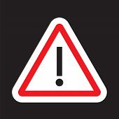 Danger, Hazard Yellow Symbol. Danger Alert Or Attention. Attention Triangle Sign. Hazard Alert Infor poster