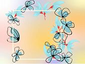Abstract Flower Design Template On White Backdrop. Abstract Flower Pattern. Floral Illustration. Flo poster