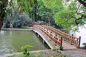 Bridge in chinese park.