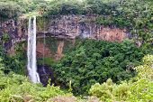 image of chamarel  - Chamarel waterfalls in Mauritius - JPG