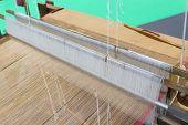 Weaving Equipment Household Weaving - Detail Of Weaving Loom For Homemade Silk Used For Silk Weaving poster