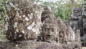 pic of asura  - asura statues in front of the bayon east gate