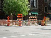 Traffic Signs on Street Corner